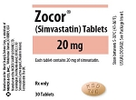 ZOCOR (BRAND FROM AUSTRALIA) 20MG TAB 90