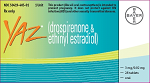 YAZ (YAZZ BRAND NAME FROM BAYER TURKEY) 84 TABLETS